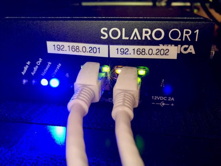 Hela båtens ljudsystem styrs av Xilicas Solaro QR-1. Den kan göra i princip allt man önskar sig ljudmässigt och kopplar ihop alla ljudkällor. Via Dante kan signaler från hela båten styras. Tack vare programmeringen behöver inte besättning göra annat än att starta ljudet via en touchskärm. Trådlösa mikrofoner och musikuppspelning sker genom Solaron.