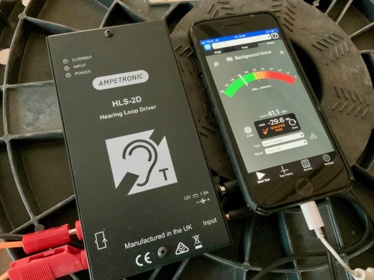 Ampetronic HLS-2D och Loopworks Measure.