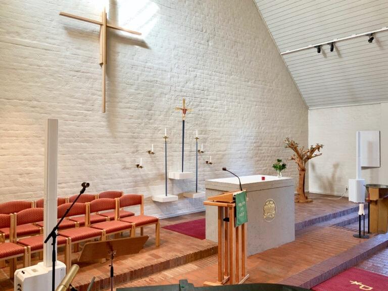 Tomaskyrkans kyrksal som fått ny hörslinga.