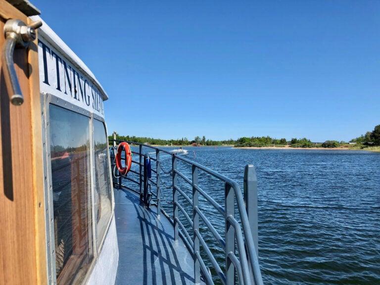 Snart framme på Limön efter en fin tur från Gävle.