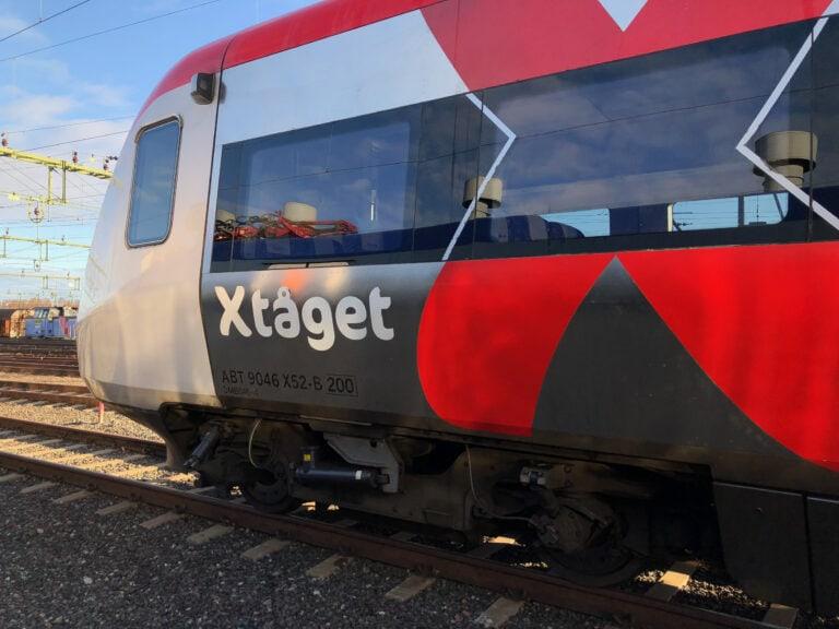 X-tågen i Gävleborg får slingan uppmätt och modellerad.